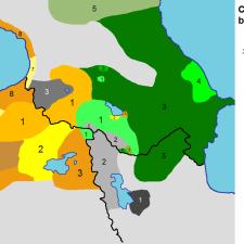 La langue arménienne moderne existe sous deux formes littéraires : l'orientale et l'occidentale.
