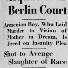 Talaat Pacha fut assassiné à Berlin le 15 mars 1921.